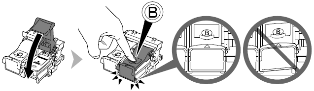 how to open canon printer to change ink