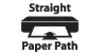 Straight Paper Path