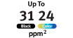 Up to 31 PPM : Print up to 31 Pages Per Minute Black & White, or 24 in color.