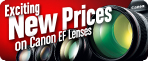 Check out the new prices on 33 of our high-performance EF lenses