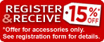 Discounted accessories when registering your camcorder