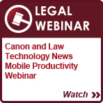 ADVANCED SOLUTIONS for Legal Webinar
