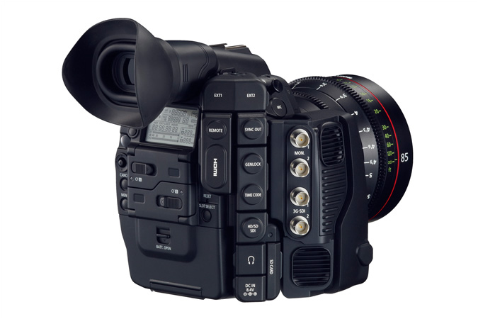 Cinema EOS C500 digital cinematography camera - Rear view