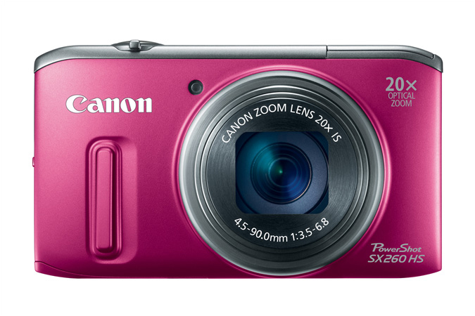 PowerShot SX260 HS digital camera in Red - Front View