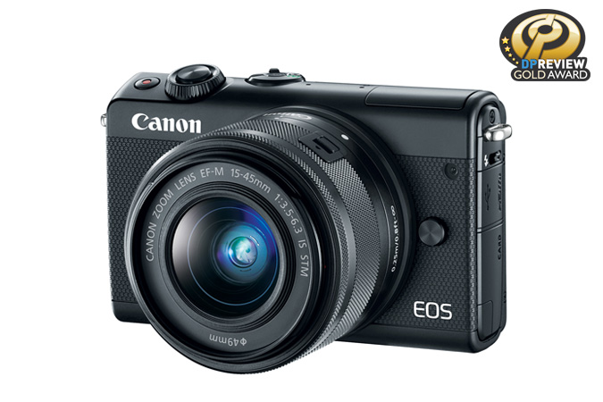 EOS M100 EF-M 15-45mm IS STM Black Lens Kit