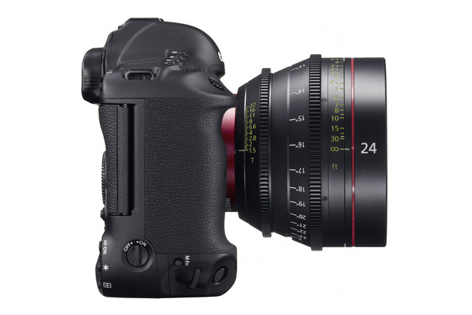EOS-1D C digital SLR - Right with EF Cinema Prime Lens