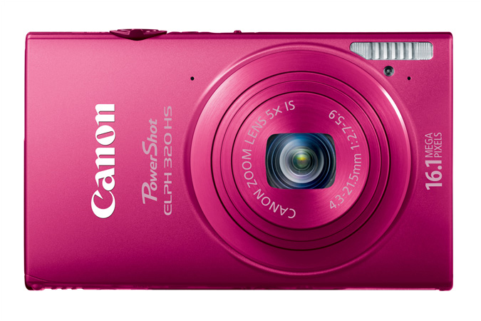 PowerShot ELPH 320 HS digital camera in Red - Front View