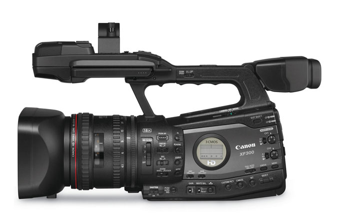 XF300 Professional Camcorder - left view