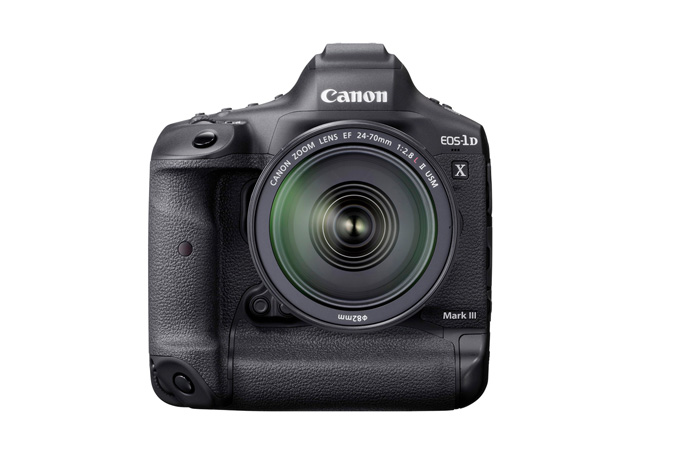 Canon EOS-1D X Mark III Camera - Front with EF 24-70mm f/2.8L