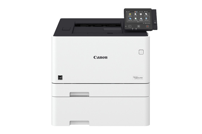 Color imageCLASS LBP664Cdw multifunction laser printer - front view with cassette