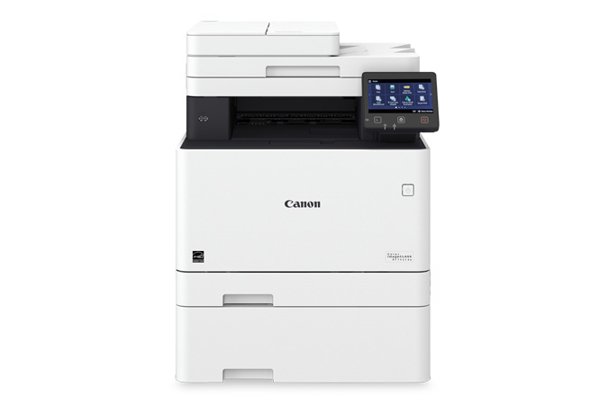 Color imageCLASS MF741Cdw multifunction laser printer - front view with cassette