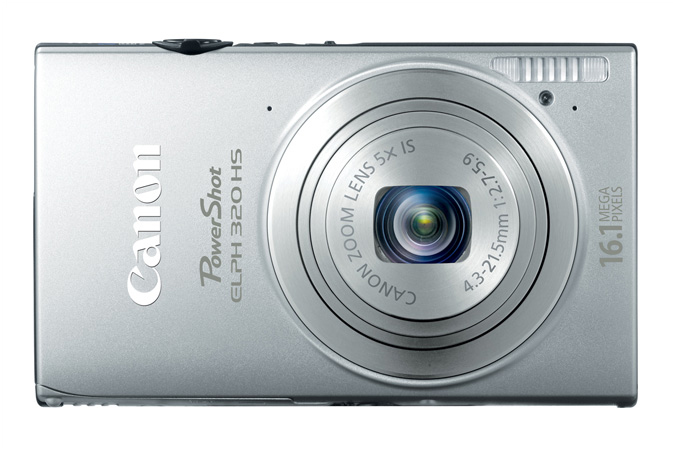 PowerShot ELPH 320 HS digital camera in Silver - Front View