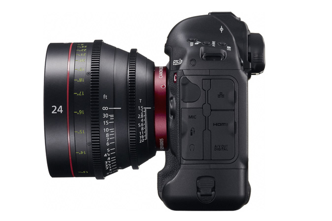 EOS-1D C digital SLR - Left with EF Cinema Prime Lens