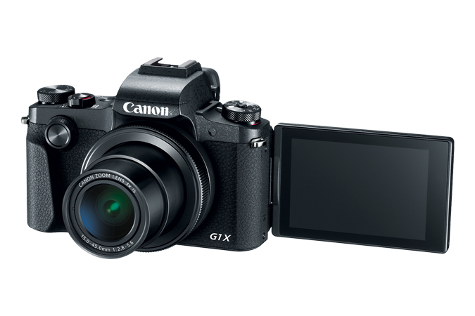 PowerShot G1 X Mark III with open lcd