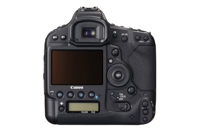 EOS-1D C digital SLR - Back view