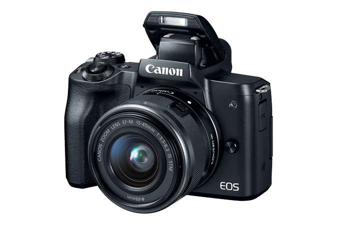 EOS M50 (Black) - Open flash