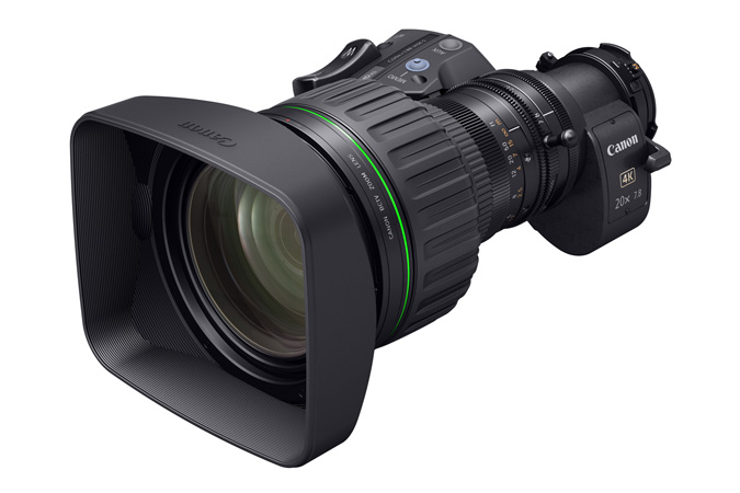 CJ20ex7.8B portable 4K Broadcast Lens - 3q view