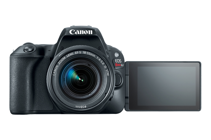 EOS Rebel SL2 Front with Open LCD