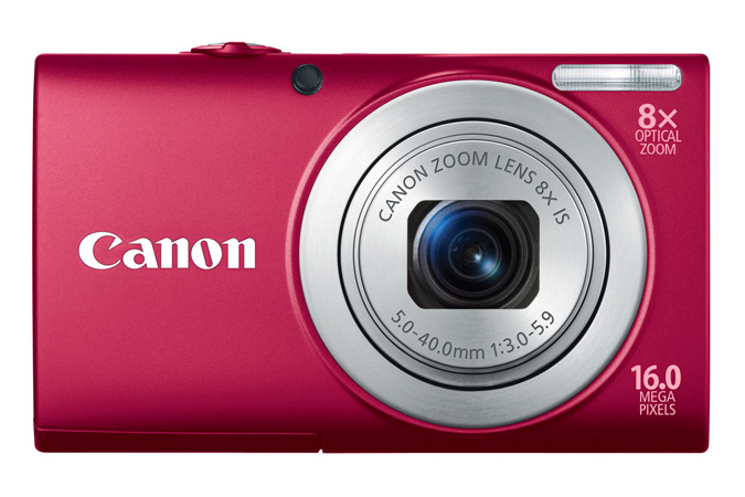 PowerShot A4000 IS digital camera in Red - Front View