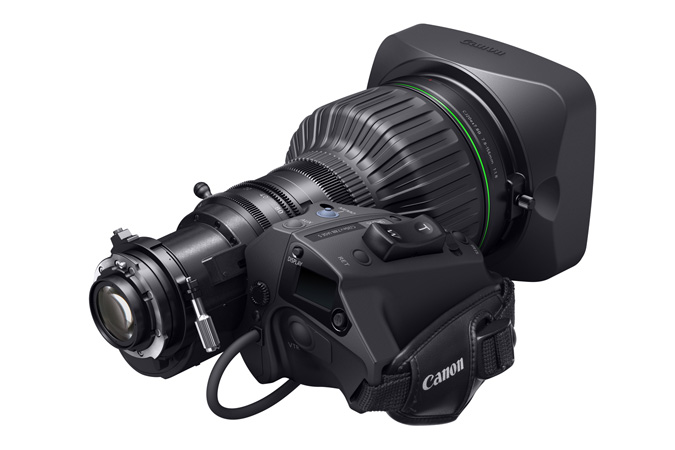 CJ20ex7.8B portable 4K Broadcast Lens - 3q Back view