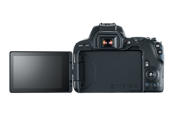 EOS Rebel SL2 Back with Open LCD