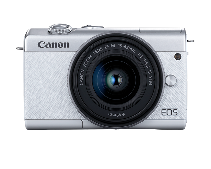 EOS M200 EF-M 15-45mm IS STM Kit - white - front