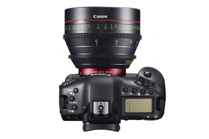 EOS-1D C digital SLR - Top with EF Cinema Prime Lens