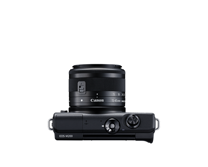 EOS M200 EF-M 15-45mm IS STM Kit - black - top