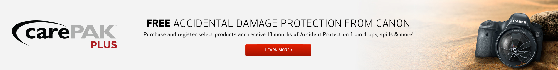 FREE Accidental Damage Protection from Canon