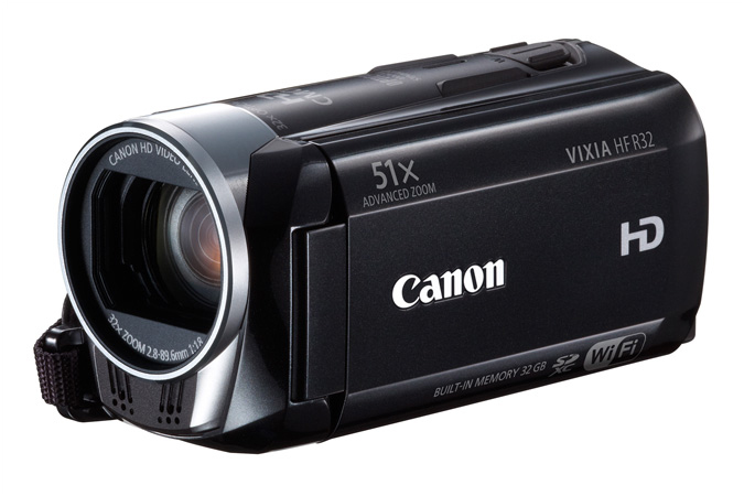 VIXIA HF R32 Flash Memory camcorder - 3/4 view closed