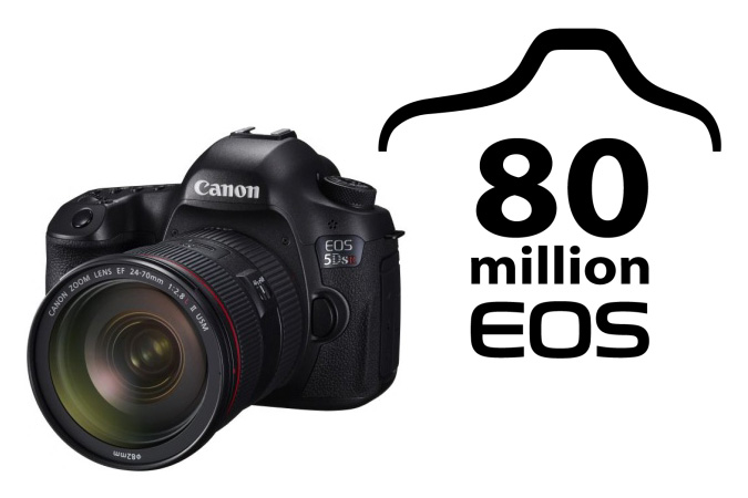 EOS 5DS R and 80 Millionth Commemorative logo