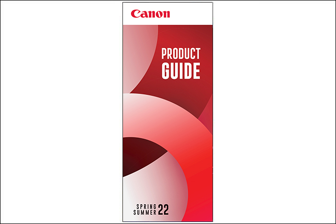 Image of the Canon Product Guide cover