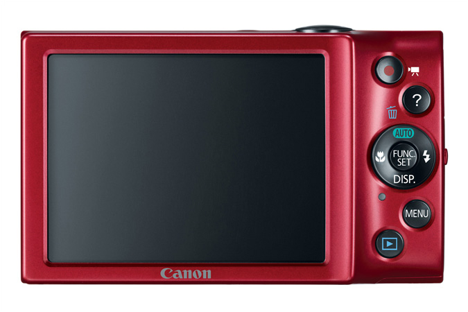 PowerShot A3400 IS digital camera in Red - Back View