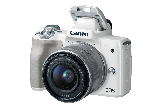 EOS M50 (White) - Open flash