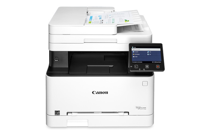 Color imageCLASS MF644Cdw multifunction laser printer - scan feature with paper