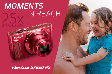 NEW PowerShot SX620 HS - MOMENTS IN REACH 25x Optical Zoom