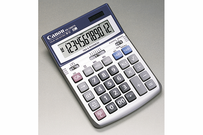 Canon 10 digit tax calculator ls-100ts | officeworks.