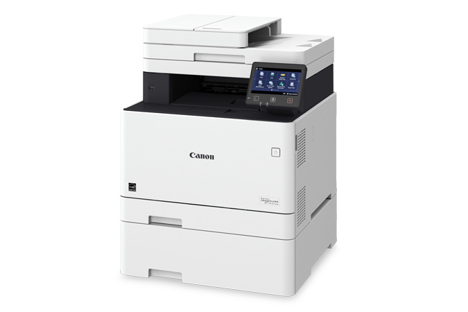 Color imageCLASS MF741Cdw multifunction laser printer - 3/4 view with cassette