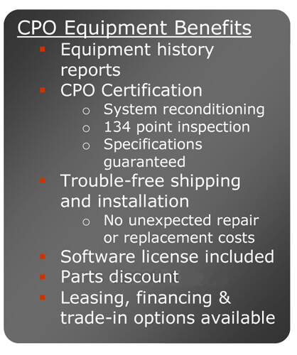 CPO Equipment Benefits