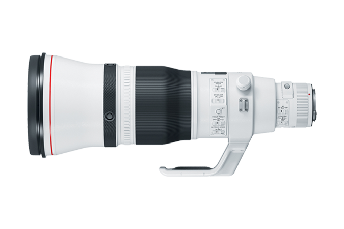 EF 600mm f/4L IS III USM (Side View with Mount)