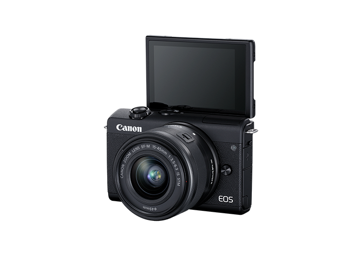 EOS M200 EF-M 15-45mm IS STM Kit - black - lcd open