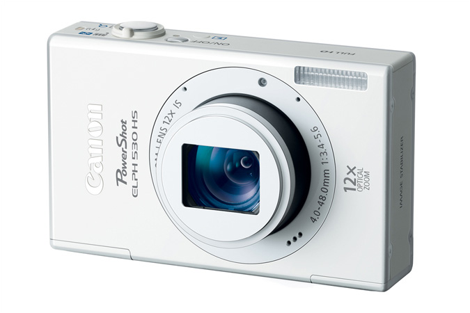 PowerShot ELPH 530 HS digital camera in White - 3/4 View