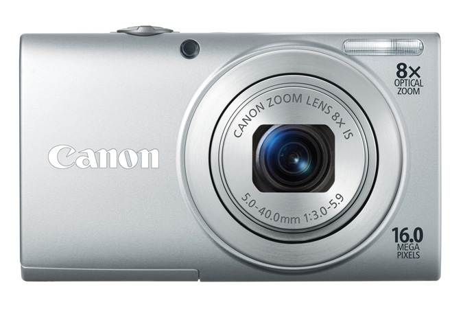 PowerShot A4000 IS digital camera in Silver - Front View