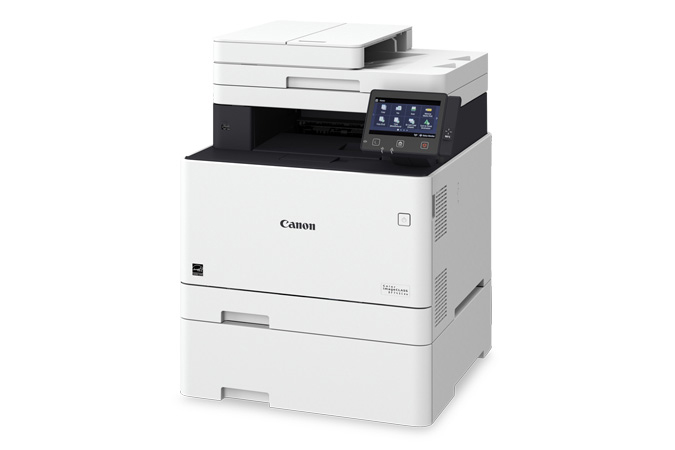 Color imageCLASS MF745Cdw multifunction laser printer - 3/4 view with cassette