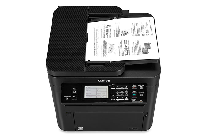 imageCLASS MF269dw multifunction laser printer value pack - overhead paper tray open