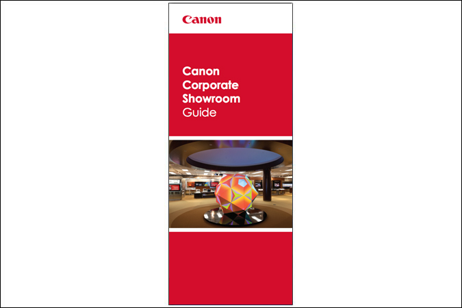 Image of the Canon Corporate Showroom cover