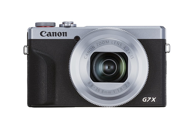 PowerShot G7 X Mark III Silver - front view