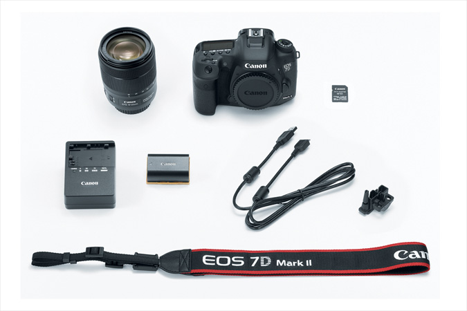 EOS 7D MarkII with EF 18-135 IS USM lens and Wireless Adapter W-E1 kit