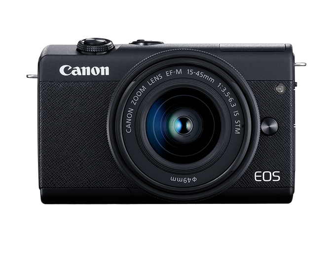 EOS M200 EF-M 15-45mm IS STM Kit - black - front