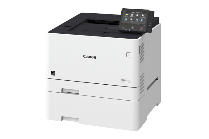Color imageCLASS LBP664Cdw multifunction laser printer - 3/4 view with cassette